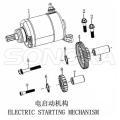 Starter Motor Zongshen NC250 Engine Kayo BSE Xmotos Apollo Original Parts