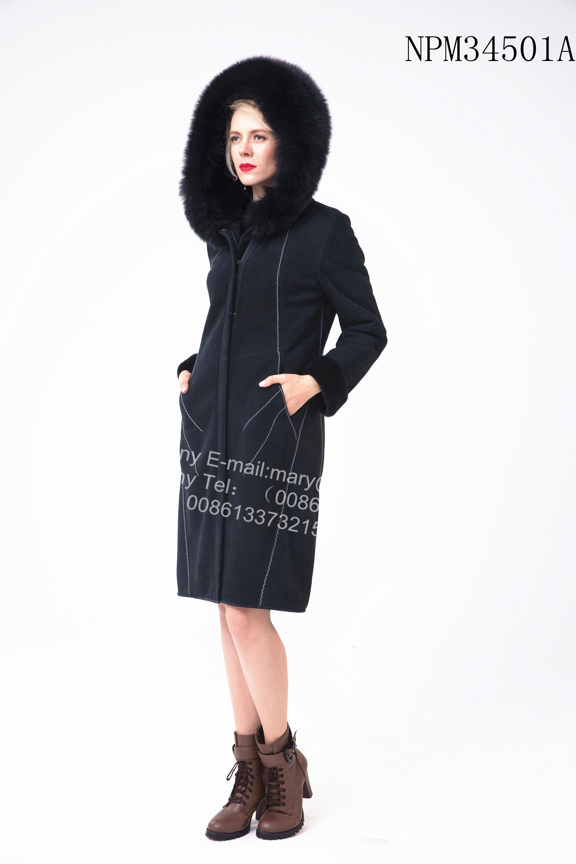 Women Long Hooded Coat