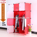 VIIVNATURE Plastic Wardrobe Bedroom Furniture Box Cube Cabinet Storage Clothes Closet Unit Organizer with 12 Enclosed Portable E