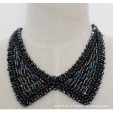 Modeschmuck Perle Kristall Chunky Kragen Halskette (JE0056-2)