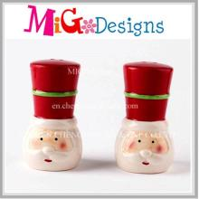 Ceramic Santa Christmas Ideas Salt and Pepper Shakers