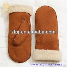 2016 novo estilo genuína sheepskin shearling mitten