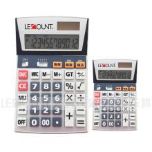 12 dígitos Calculadora de oficina de energía dual con función opcional de impuestos En / Jp (LC206T)