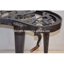 Table à manivelle à vapeur boîte à manivelle table à nez