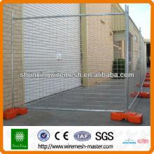 Baustelle vorübergehende Zäune