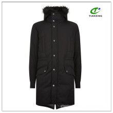Ultrawarm 2-way zip closure black winter mens long parka