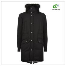 Ultrawarm 2-полосная молнии черные зимние мужские длинные пуховики