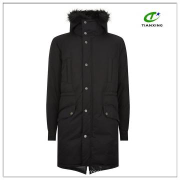 Ultrawarm 2-way zip closure black winter mens long parka