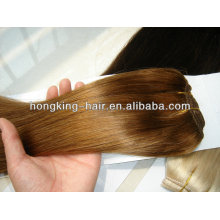 Full Cuticle Machine Weft Unprocessed remy 100 hair extension