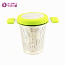 Förderndes erweitertes Teekannen-Tee-Ei / Filter / Sieb / steiler mit Deckel Frühling