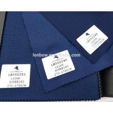 Material de lana de textura suave de alta calidad que se adapta a la acción de super 180 de la tela