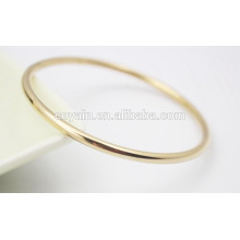 Cheap round simple gold bangle bracelet design