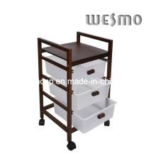 Shower Accessories Wooden Bathroom Shelf