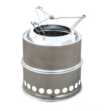 Stainless Steel Folding Camp Stove, Foldable Firewood Stove
