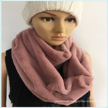 Black White Pink Fashion Young Neck PV Fleece Tube Scarf Factory