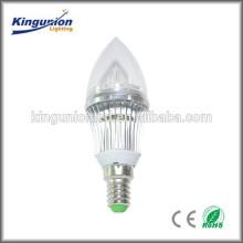 Lumière de bougie à lumière haute lumière, ampoule à bougie led