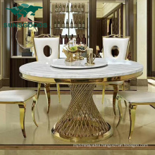 Luxury Restaurant Dining Hotel Banquet Wedding Furniture Round Table with Marble Top