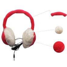Knitted Warm Headset Earmuff Style Headphones