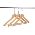 anti-theft wooden hangers for cloths for shops