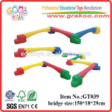 Amusement Park Equipment Plastic Balance Beams For Kids