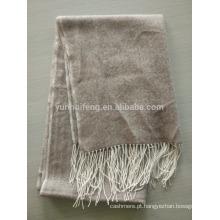 Cachecol puro em espinha de cashmere