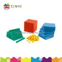 Mathématiques en plastique Placez la valeur Basen Dix blocs (K001)
