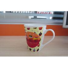 12oz Promotional V-Shape Full Decal Photo Printing Porcelain Coffee/Tea Mug Cup (WSY804M)