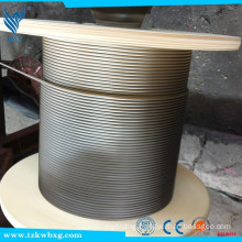7X7 Diameter 12mm AISI 321 stainless steel wire rope