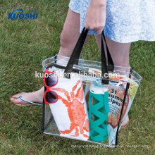 sac de plage en plastique pvc personnalisé transparent