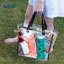 custom plastic pvc beach bag transparent