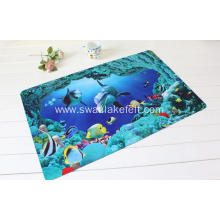 Digital Printed Polyester Anti-slip Backing Cloth Indoor Carpet Rug