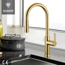 Złoto High Arc Pull Down Kitchen Tap Faucets