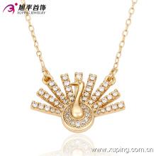 Fashion Charm Peacock étalage de sa queue plaqué or collier de bijoux -42821