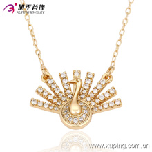 Fashion Charm Peacock Flaunting Its Tail Gold-Plated Jewelry Necklace -42821