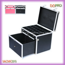 Black Easy Portable Aluminum Nail Tool Box with Drawer (SACMC015)