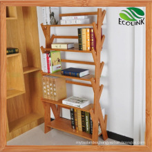 Tree Shape Natural Bamboo Book Shelves for Decor (EB-B4142)