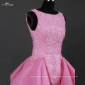 LZ172 Alibaba Beading Ruffle Pink Wedding Dress Front Short And Long Back Wedding Dress
