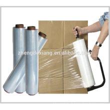chine LLDPE transparent en plastique main palette emballage film d'emballage film étirable