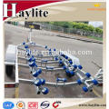High quality hot dip galvanized boat trailer with parts and rollers for sale
