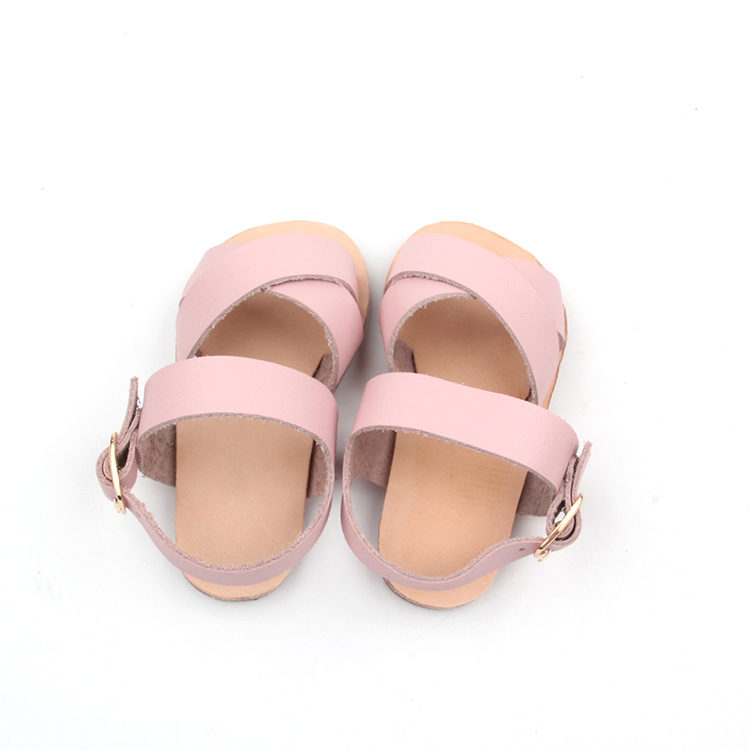 Summer Pink Girl Soft Leather Kids Sandals