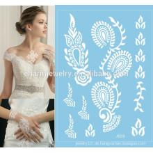 Hochzeit temporäre Tätowierung Aufkleber Spezielle weiße Spitze temporäre Tätowierung Aufkleber j025
