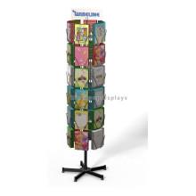 Publicidade Equipamento Livro Loja de varejo Metal Freestand Rotating Newspaper Greeting Card Display Stand