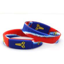 Customized Colorful Lightning Logo Souvenirs Silicone Wristband