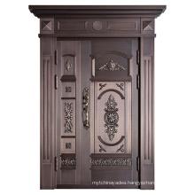 Firm Steel Metal Door Safety Door Carved Security Door Copper Door