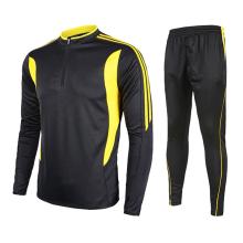 Hign qualidade Dri-fit unisex planície de manga longa uniformes de futebol jersey camisa de manga longa