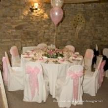 günstige und qualitativ hochwertige 100 % Polyester Tischdecke für Hochzeit Bankett hotel