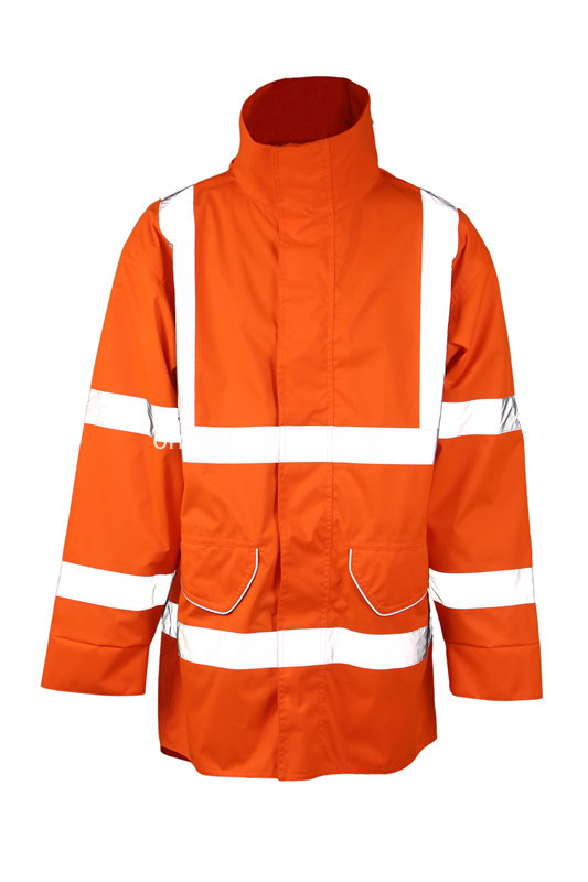 reflective jacket in orange