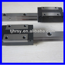 Carril de deslizamiento lineal THK y carro RSR9W para máquina CNC