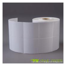 Étiquette autocollante thermique colorée pour l'impression thermique