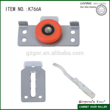 wardrobe soft moving sliding door track roller for cabinet